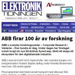 ABB firar 100 år av forskning