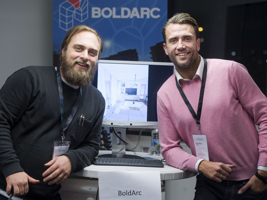 "Dan Gemvall and Tobias Fröberg, BoldArc, which is developing solutions for the visualization of architecture ""This has been a very inspiring day. SynerLeap is a new acquaintance, and we are here to make ourselves known and to network. We believe that being part of a growth hub like SynerLeap can help BoldArc reach its goals and make it easier for us to reach out to customers."""