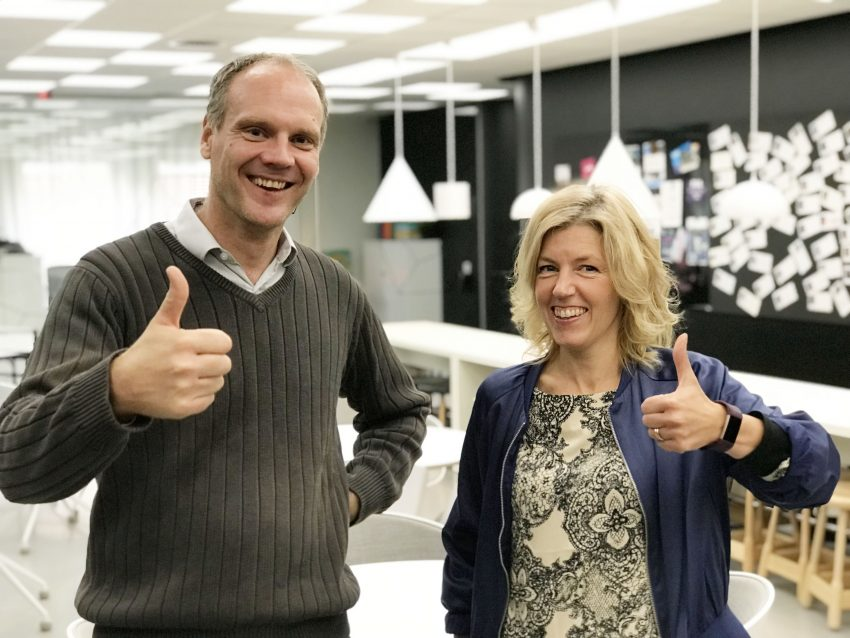 Peter Löfgren, Managing Director of SynerLeap and Helena Jerregård, CEO RISE SICS Västerås are excited by the two organizations sharing same arenas and together targeting faster innovation cycles