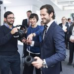 Prins Carl Philip besöker  Corporate ResearchFoto : Jonas Bilberg