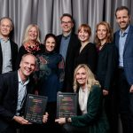 The proud team from SynerLeap and ABB and their two awards from Ignite Sweden. From left, back: Rolf Lindström, Christina Karlsson, Gaetana Sapienza, Magnus Backman, Louise Fagerström, Cathrine Helin and Martin Olausson. From left, front: Peter Löfgren and Camilla Kullborg. Photo: Elias Ljungberg